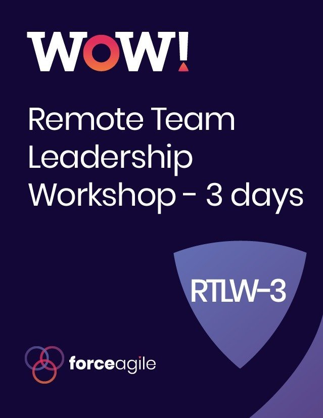 WoW! Remote - Leadership Workshop Force Agile